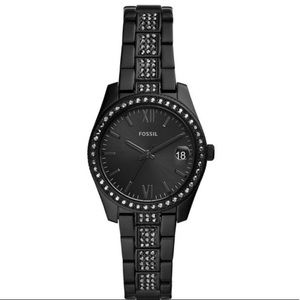 Fossil stainless steel scarlette watch in  black